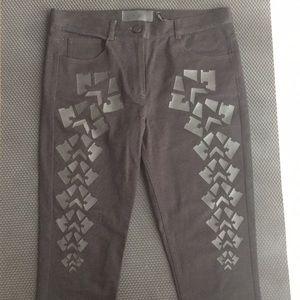 Alexander Wang x H&M black jeans appliqué NWOT